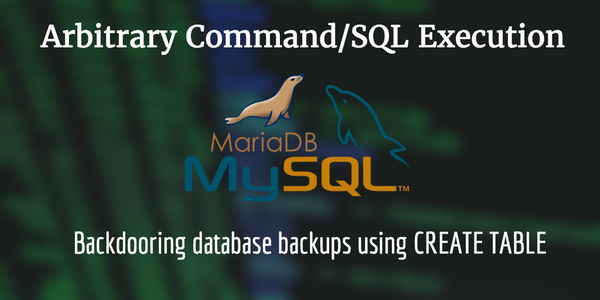 [CVE-2016-5483] Backdooring mysqldump backups