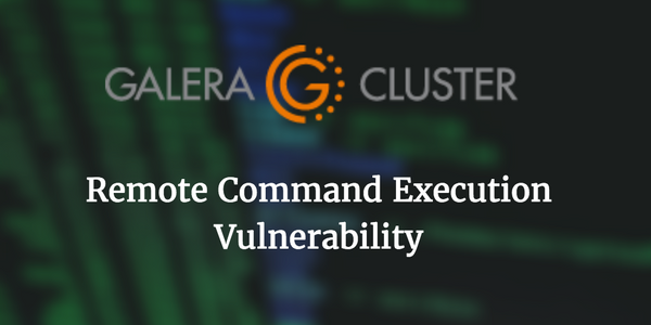 [CVE-2016-5483] Galera Remote Command Execution via crafted database name