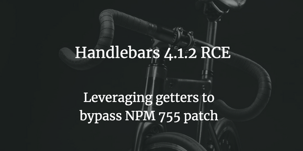 Handlebars 4.1.2: Command Execution